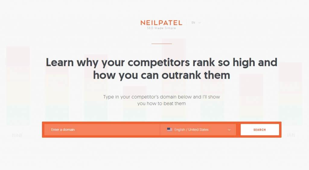 NeilPatel - מחקר מתחרים